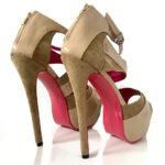 Cream Sandal High Heels