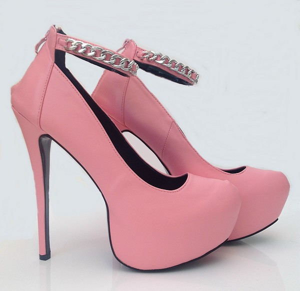 Pink Chain High Heels