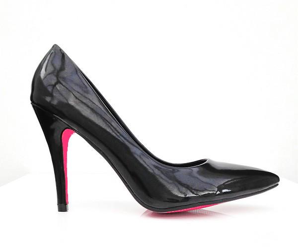 Black & Pink Court Shoes